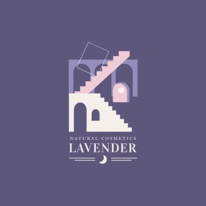 Natural Cosmetics Logo Creator Featuring an Abstract Scenario 3587e-el1