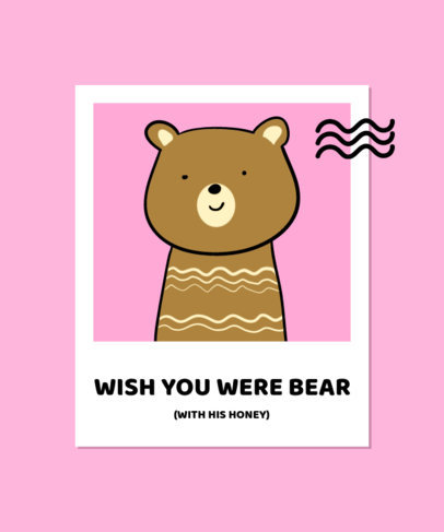 Fun T-Shirt Design Creator with an Illustration of a Picture of a Bear 3573a-el1