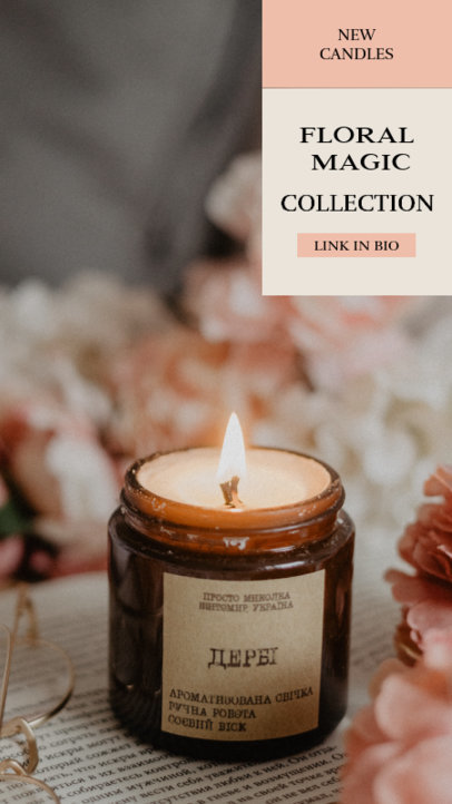 Instagram Story Template for a Self-Care Candles Collection 3567d-el1