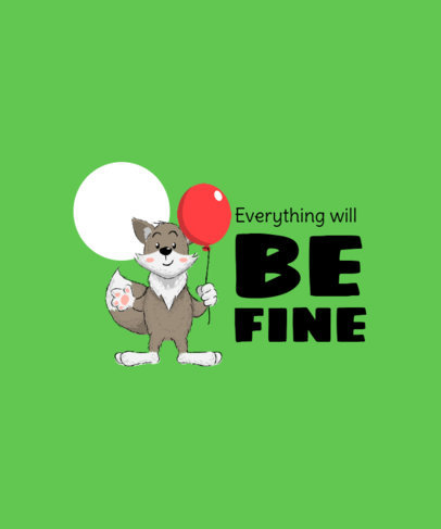 Kids T-Shirt Design Maker with a Positive Quote and a Fox Graphic 3579d-el1