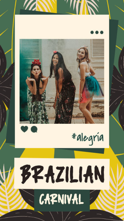 Happy-Looking Instagram Story Creator for Brazilian Carnival 3430h