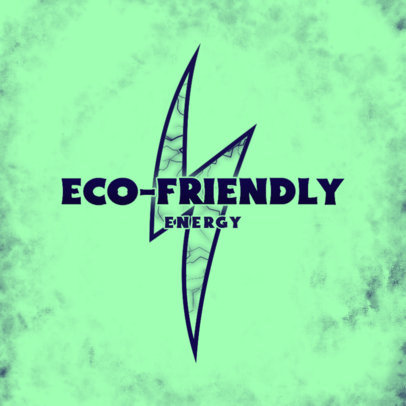 Lightning-Themed Logo Maker for an Eco-Friendly Energy Company 4100f