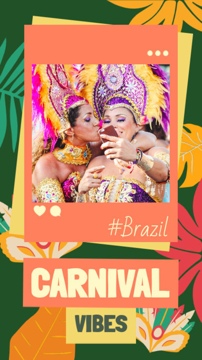 Joyful Instagram Story Design Maker to Celebrate Carnival 3430a