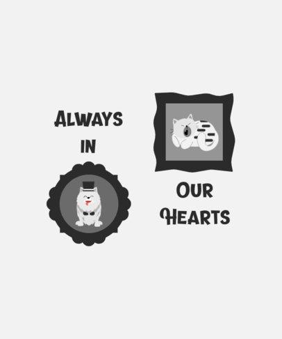 Monochromatic T-Shirt Design Generator Featuring Cute Pet Illustrations 3581a-el1