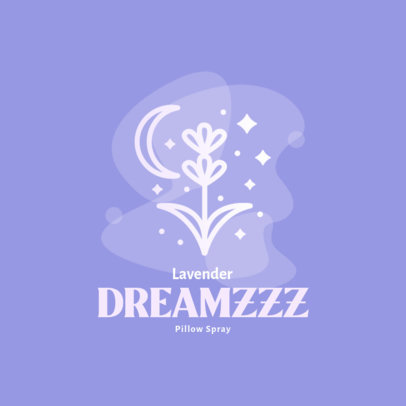 Lavender-Themed Logo Template for a Pillow Spray 4086b