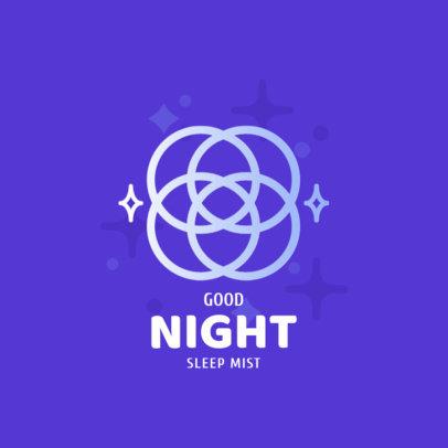 Sleep Mist Logo Maker with a Minimalistic Cloud Graphic 4086c