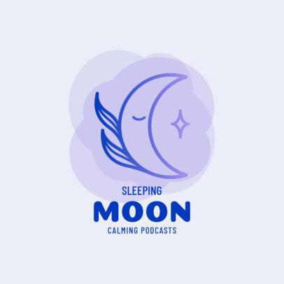 Moon-Themed Logo Creator for a Calming Podcast 4086e