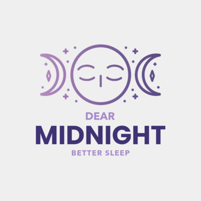 Logo Creator with Moon-Themed Graphic for Sleeping Aid Products 4086a