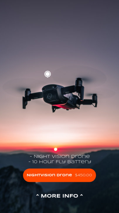 Instagram Story Design Maker for Dropshippers Featuring a Picture of a Drone 3565b-el1