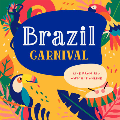 Facebook Post Maker Intiving to Watch Brazilian Carnival Online 3427d