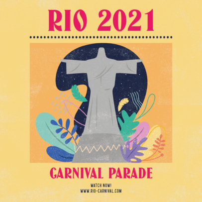 Instagram Post Creator Featuring Rio de Janeiro's Landmark 3431e