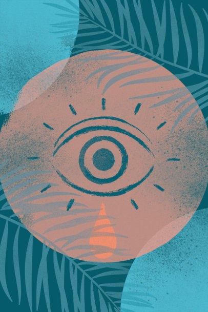 Art Print Design Generator Featuring a Mystical Illustration of an Eye 3425h