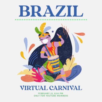 Instagram Post Maker to Announce a Virtual Carnival on YouTube 3431d