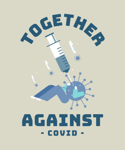 T-Shirt Design Generator with an Illustration of the COVID-19 Vaccine 3434d