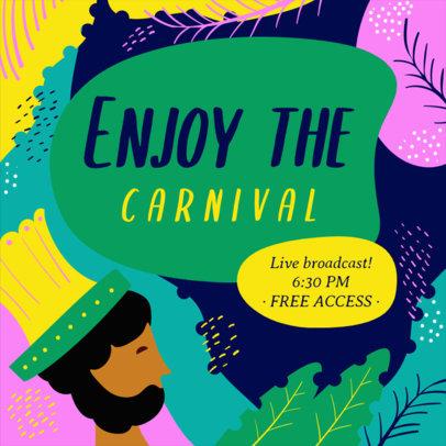 Facebook Post Generator for a Brazilian Carnival Broadcast 3427c