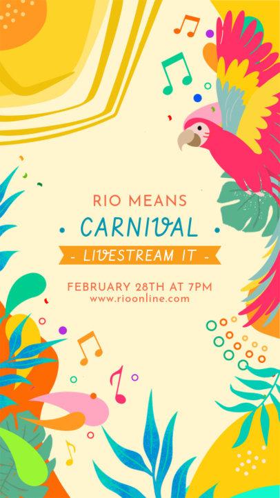 Instagram Story Maker to Announce a Brazilian Carnival Live Stream 3429b