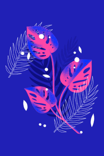 Art Print Design Creator Featuring a Beautiful Illustration of Monstera Plants 3424b