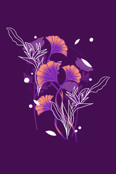 Floral Art Print Design Template Featuring Beautiful Illustrations 3424d