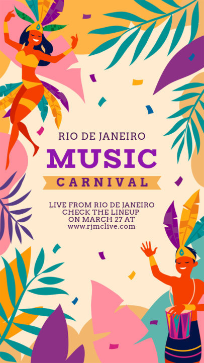 Instagram Story Generator for a Brazilian Music Festival 3429e