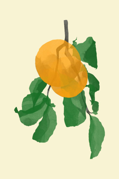 Botanical Art Print Design Maker Featuring Watercolor Illustrations 3423i