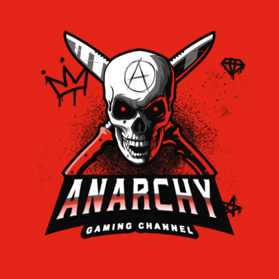 Gaming Channel Logo Creator with a Skull-Themed Graphic 4095h