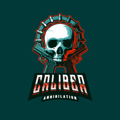 Gaming Logo Creator with a Shooter-Themed Skull Graphic 4095k