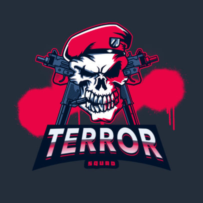 Horrifying Logo Creator with a Skull Graphic for Shooting Games 4095l