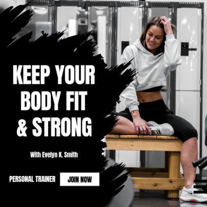 Instagram Post Design Template Featuring a Fitness Theme 3616-el1