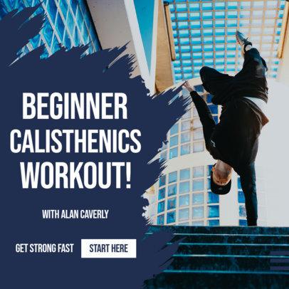 Fitness-Themed Instagram Post Maker for Calisthenics Coaches 3616b-el1