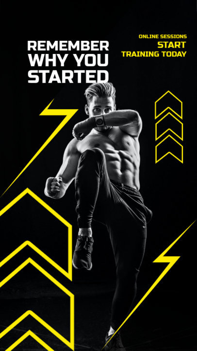Instagram Story Generator with a Motivational Fitness Quote 3604a-el1