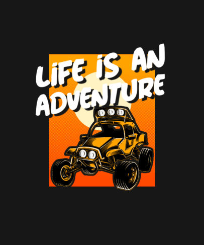 T-Shirt Design Template with a Dune Boogie Illustration 3624a-el1
