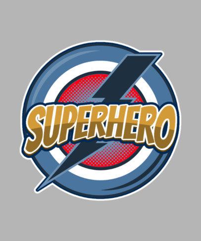 T-Shirt Design Maker with a Customizable Superhero Emblem 3463f