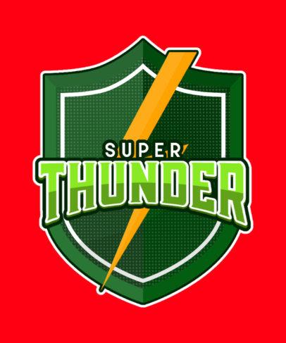 T-Shirt Design Template with a Superhero-Inspired Emblem 3463e