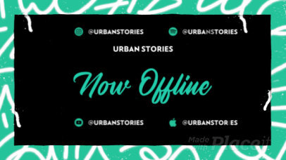 Twitch Offline Screen Video Template Featuring Animated Graffiti Graphics 2645