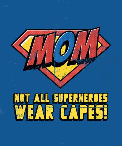Pop Art-Inspired T-Shirt Design Generator for a Super Mom 3462a