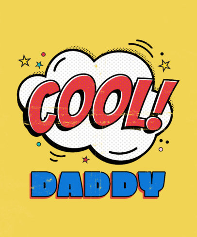 Fun T-Shirt Design Generator for a Cool Dad 3462g