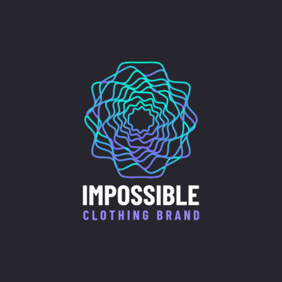 Logo Template for a Clothing Brand with an Abstract Line Graphic 4115d