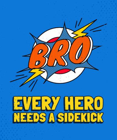 Superhero-Themed Family T-Shirt Design Maker 3462d