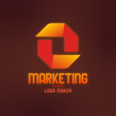 Marketing Logo Generator with a Modern Abstract Graphic 4111d