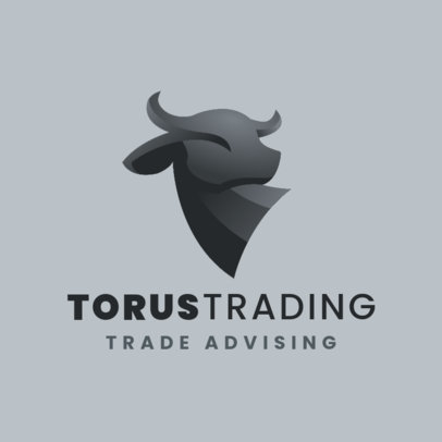 Logo Creator for a Trade Advisor with a Bull Graphic 4112g