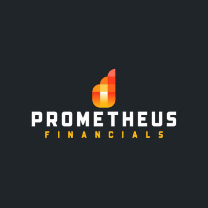 Financial Logo Creator with an Abstract Flame Graphic 4112a