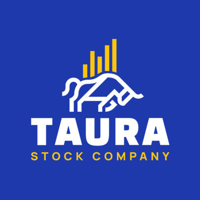 Logo Maker for a Stock Company with a Bull Graphic 4112c
