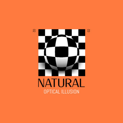 Gaming Logo Maker Featuring a Spheric Optical Illusion 4116c