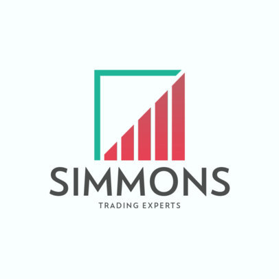 Abstract Logo Maker for Trading Consultants 4109f