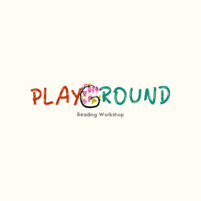 Logo Generator for a Children's Book Club Featuring an Illustrated Letter 4122b
