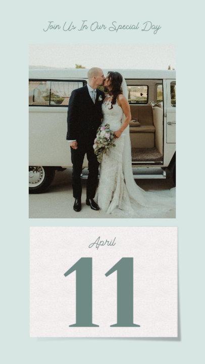 Instagram Story Design Maker to Announce a Wedding Date Featuring a Picture 3630e-el1