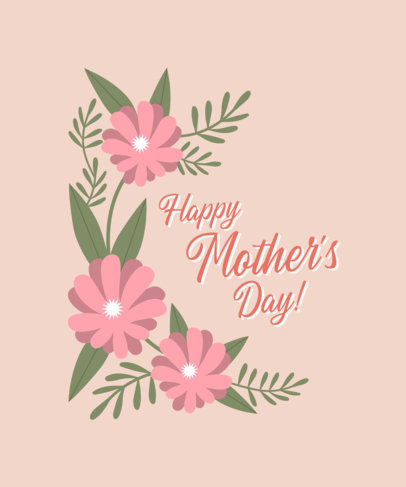 Floral T-Shirt Design Template for Mother's Day 3477