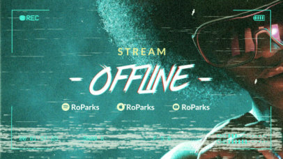 Cool Twitch Offline Screen Video Maker for Music Streamers 2649