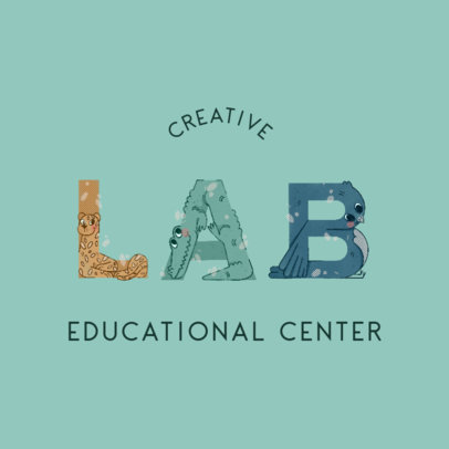 Logo Generator for a Kindergarten Featuring Animal-Shaped Typography 4117a