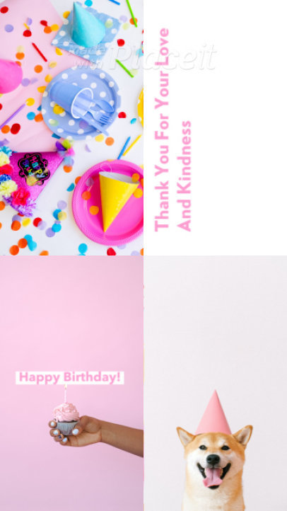 Instagram Story Video Creator for a Happy Birthday Message 1565i 2942